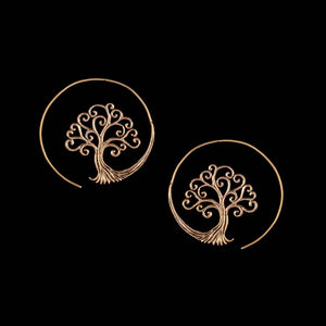 Tree of Life Earrings - Ekeko Crafts
