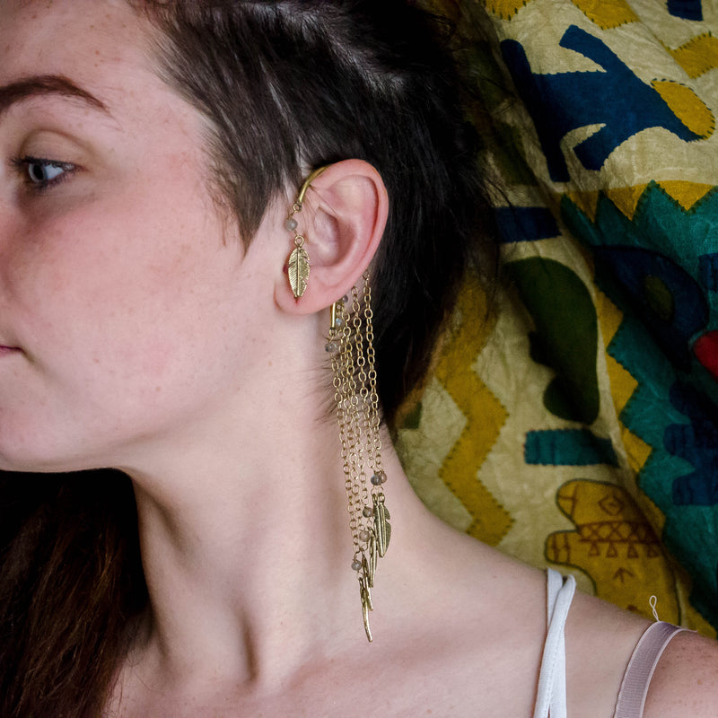 Pixie Leaf Ear Cuff - Ekeko Crafts