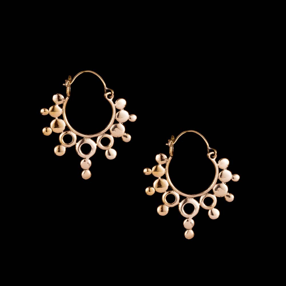 Psy Hoop Earrings - Ekeko Crafts