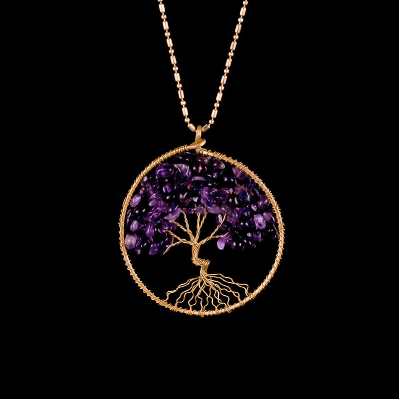 Tree of Life Necklace - Amethyst - Ekeko Crafts