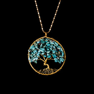 Tree of Life Necklace - Turquoise - Ekeko Crafts