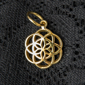 Seed of Life Charm - Brass - Ekeko Crafts