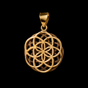 Double Seed of Life Pendant Small - Ekeko Crafts