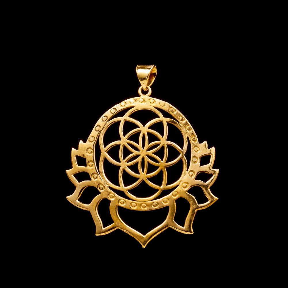 Seed of Life Lotus Pendant, Sacred Geometry Necklace, Spiritual Gifts