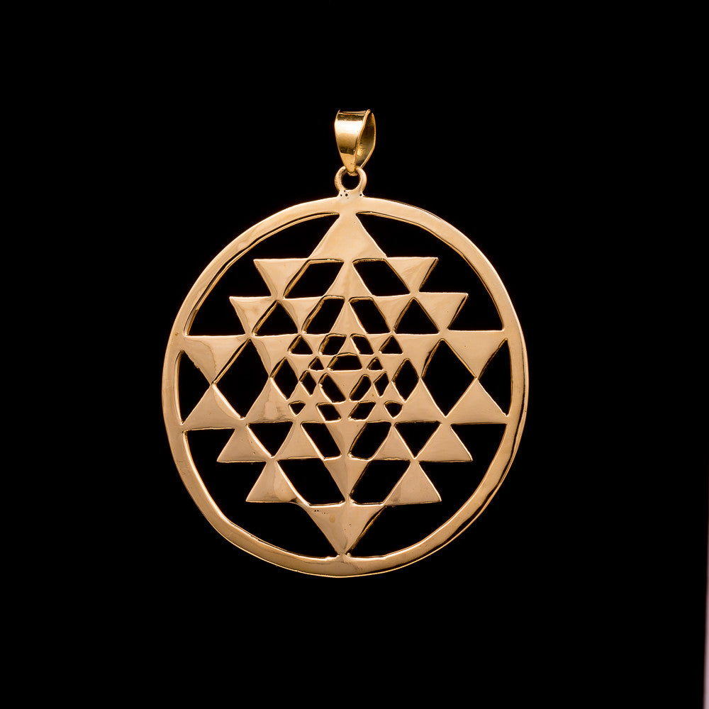 Large Sri Yantra Pendant - Ekeko Crafts