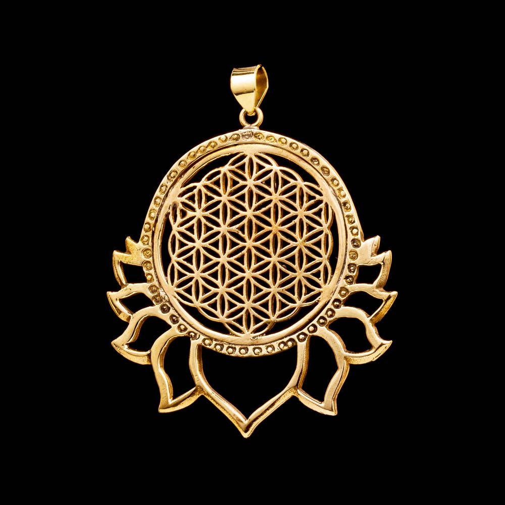 Flower of Life Lotus Pendant - Ekeko Crafts