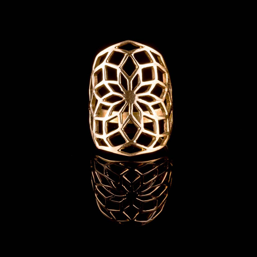 Web of Life Brass Ring - Ekeko Crafts