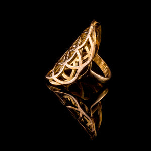 Double Seed of Life Ring - Brass - Ekeko Crafts