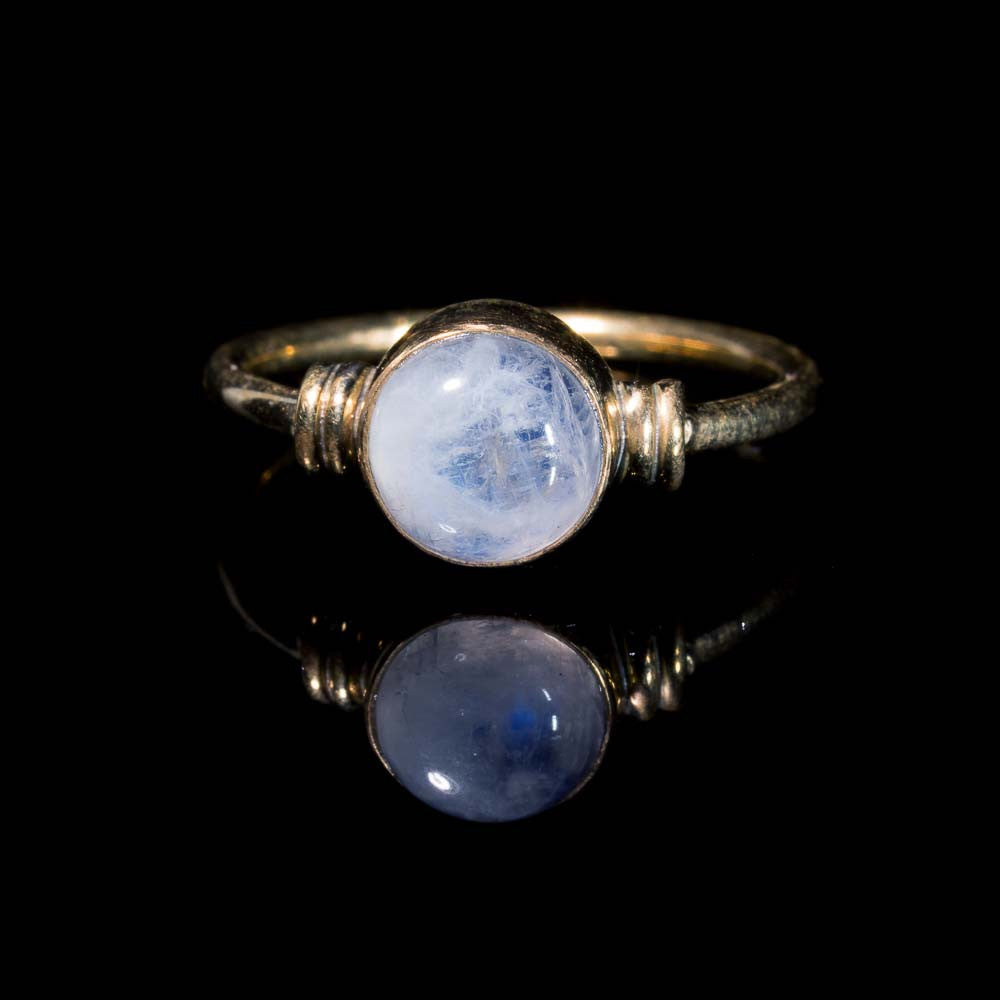 boho moonstone stacking ring