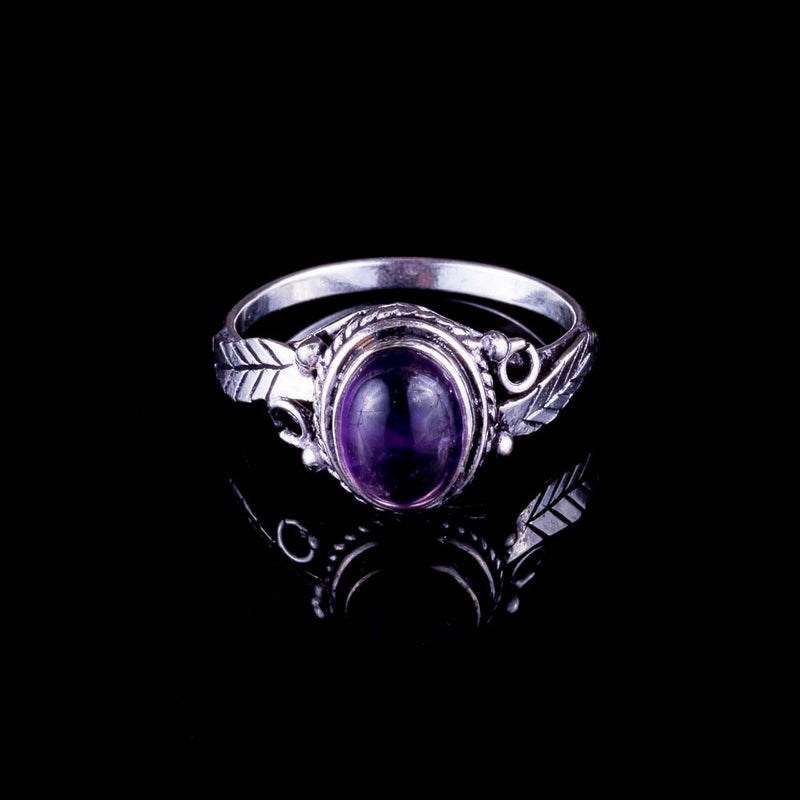 Leaf Ring - Amethyst - Ekeko Crafts