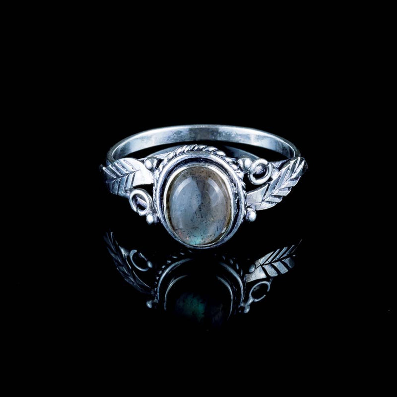 Leaf Ring - Labradorite - Ekeko Crafts