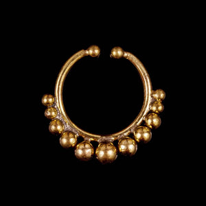 Kashi Faux Septum Ring - Brass - Ekeko Crafts