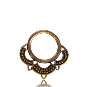 Aruna Septum Ring - Brass - Ekeko Crafts