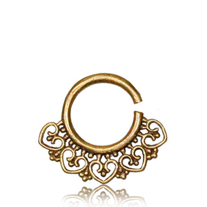 Rati Real Septum Ring - Brass - Ekeko Crafts