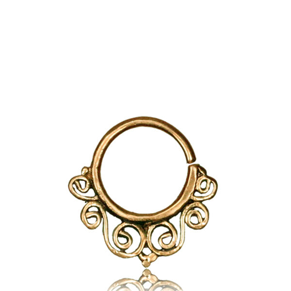 Riddhi Real Septum Ring - Brass - Ekeko Crafts