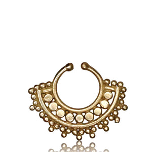 Bhūmi Faux septum Ring - Brass - Ekeko Crafts