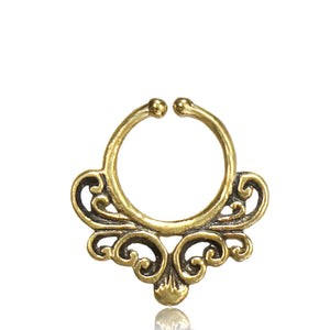 Ganga Faux Septum Ring - Brass - Ekeko Crafts