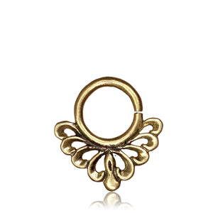 Kushmanda Real Septum Ring -Brass - Ekeko Crafts