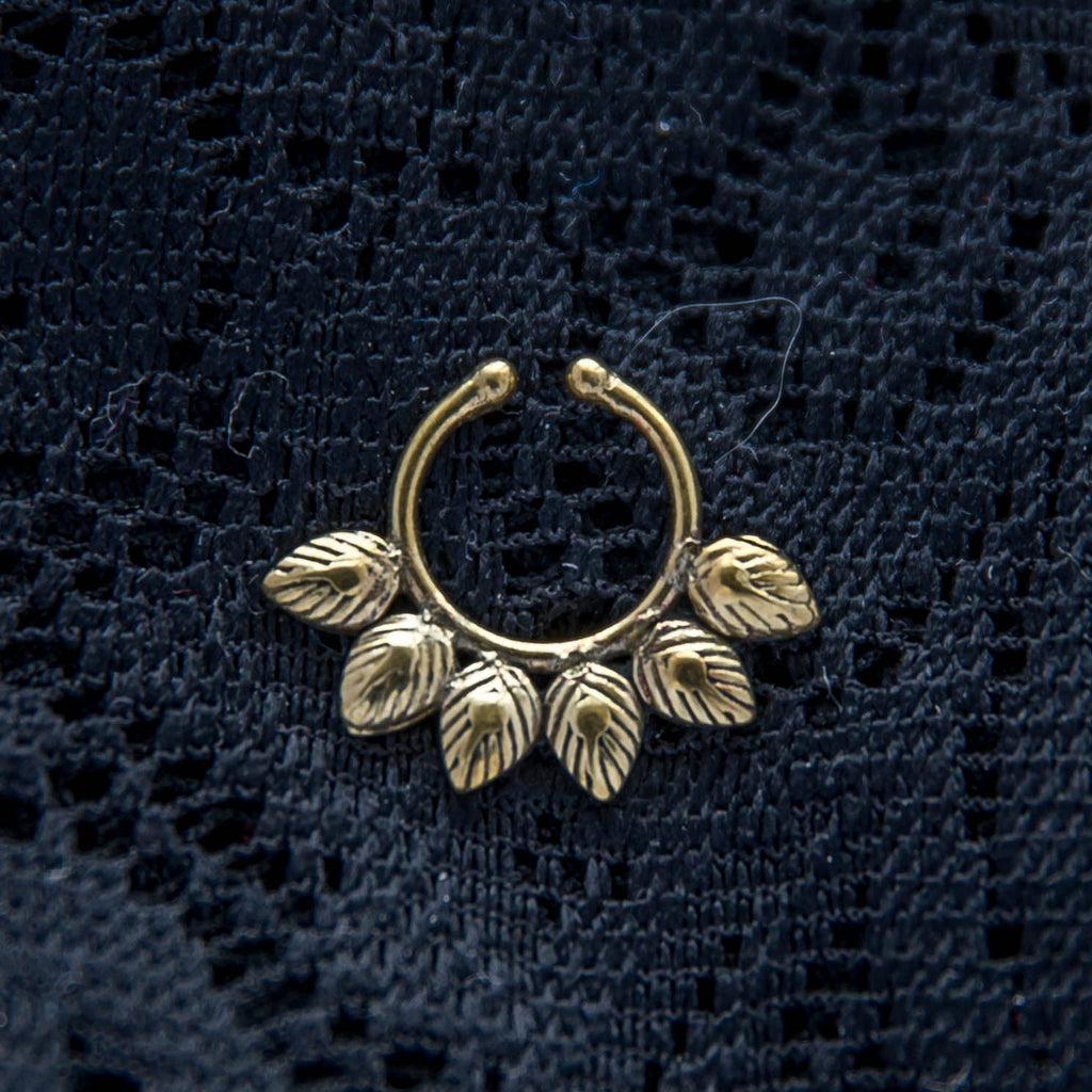 Ira Faux Septum Ring - Brass - Ekeko Crafts