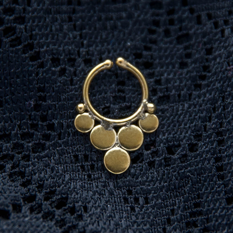 Jina Faux Septum Ring - Brass - Ekeko Crafts