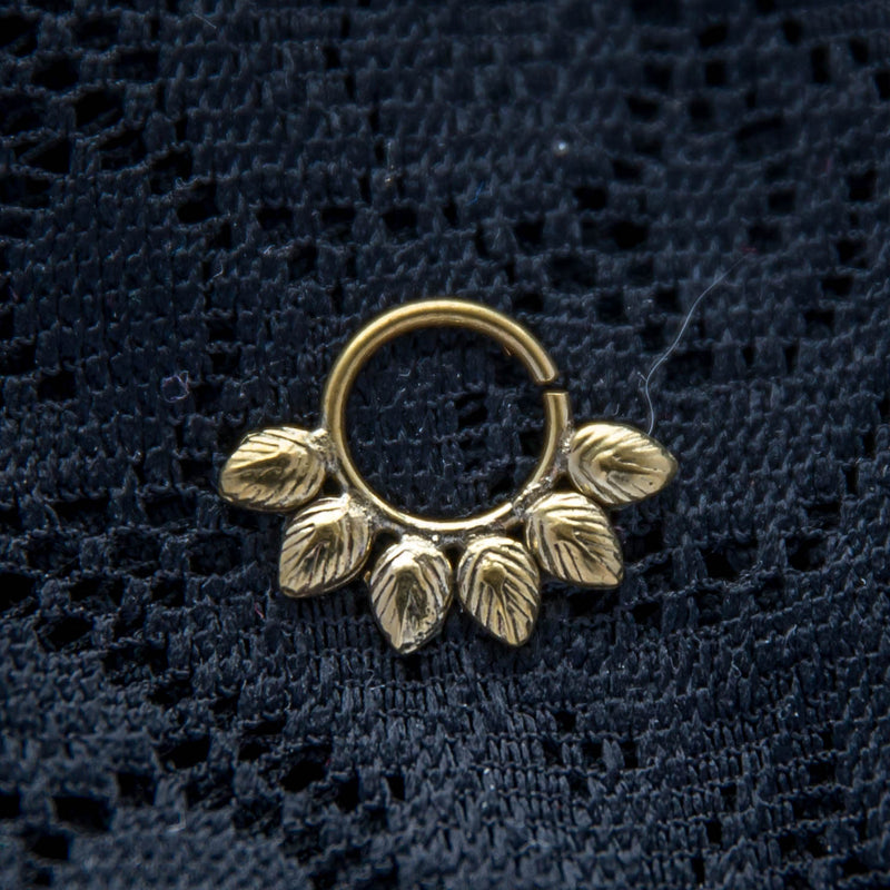 Forest Pixie Septum Ring - Brass - Ekeko Crafts
