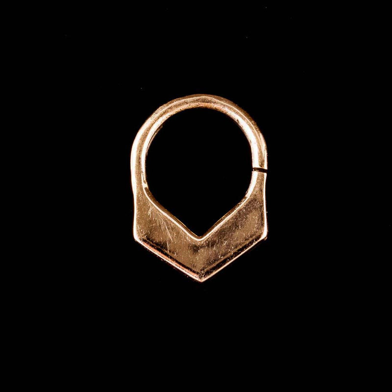 V shape septum ring, Brass septum jewelry, boho septum clicker