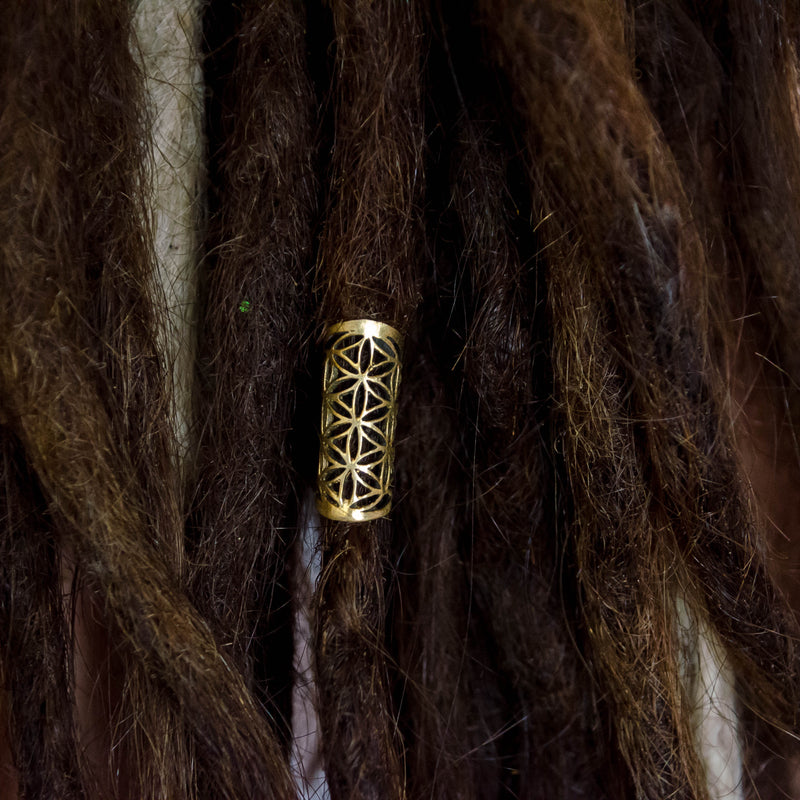 Flower of Life Dread Bead - Small - Ekeko Crafts