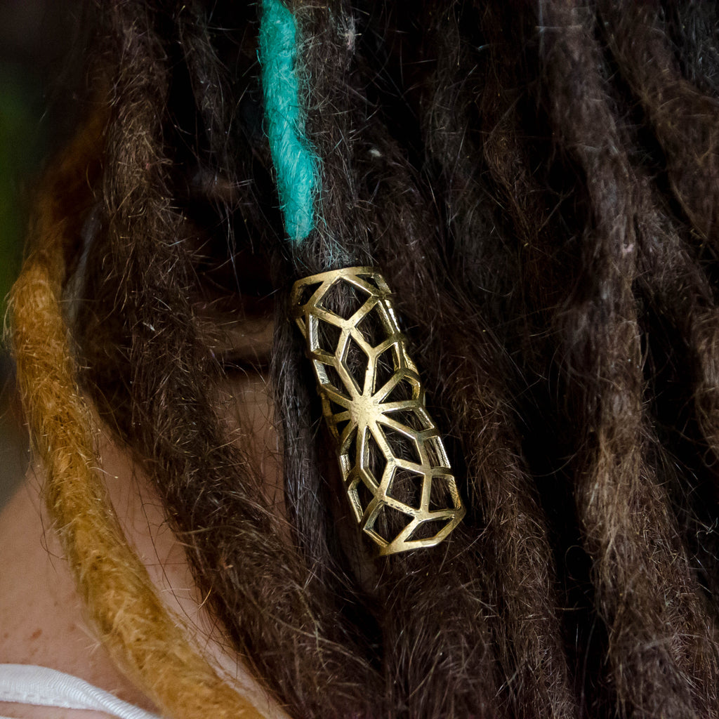 Web of Life Dread Bead - Ekeko Crafts