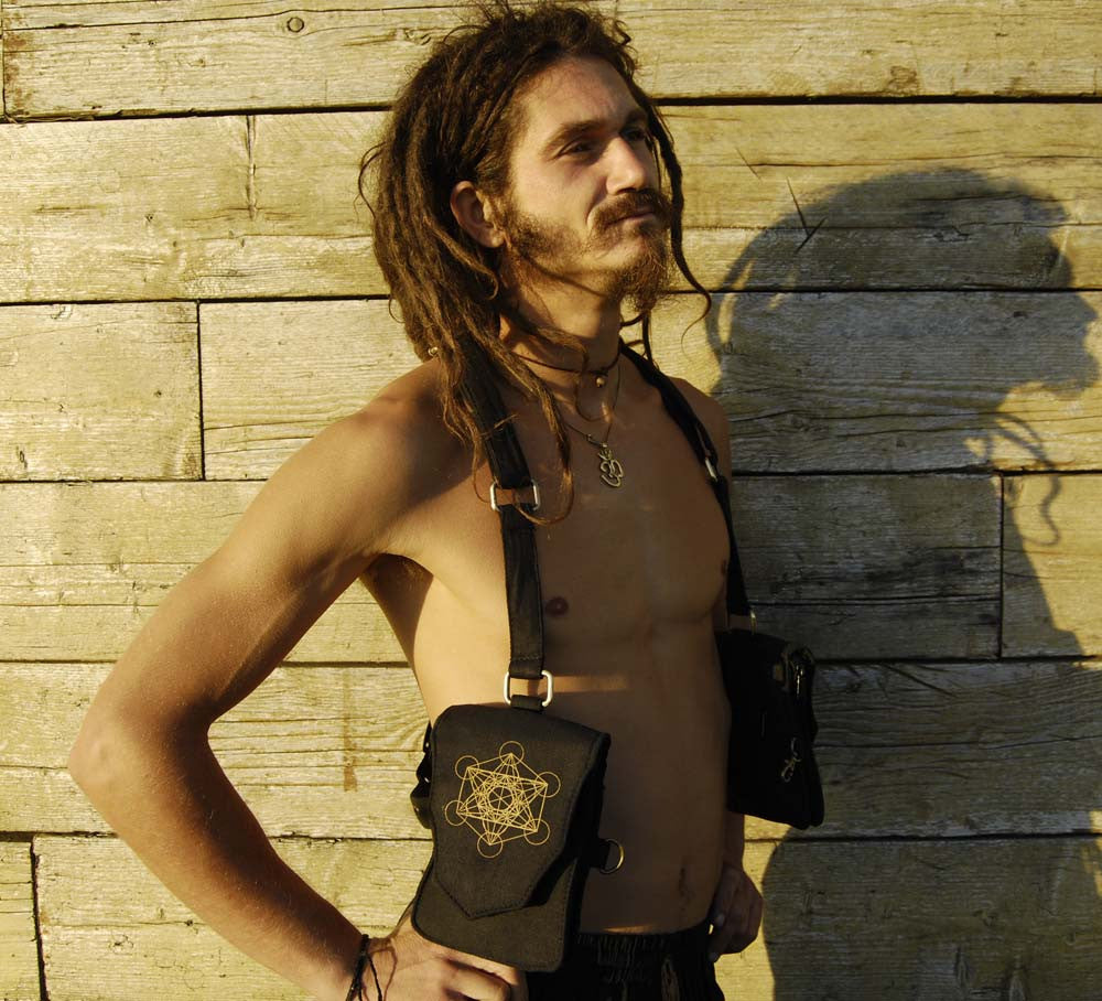 Metatrons Cube Utility Holster Bag - Ekeko Crafts