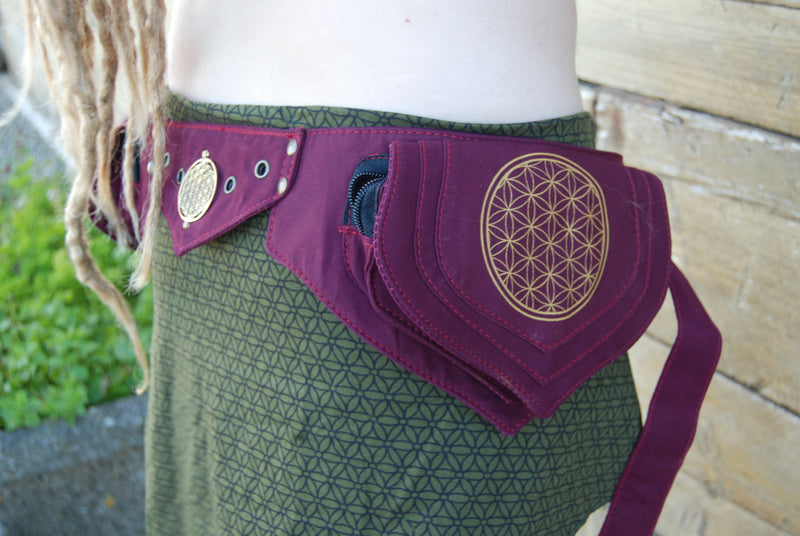 Flower of Life Lotus Belt - Ekeko Crafts