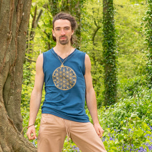 Rama Tank - Flower of Life Print - Ekeko Crafts