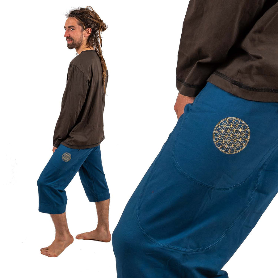 Bhakti Pants - Flower of Life Print - Ekeko Crafts