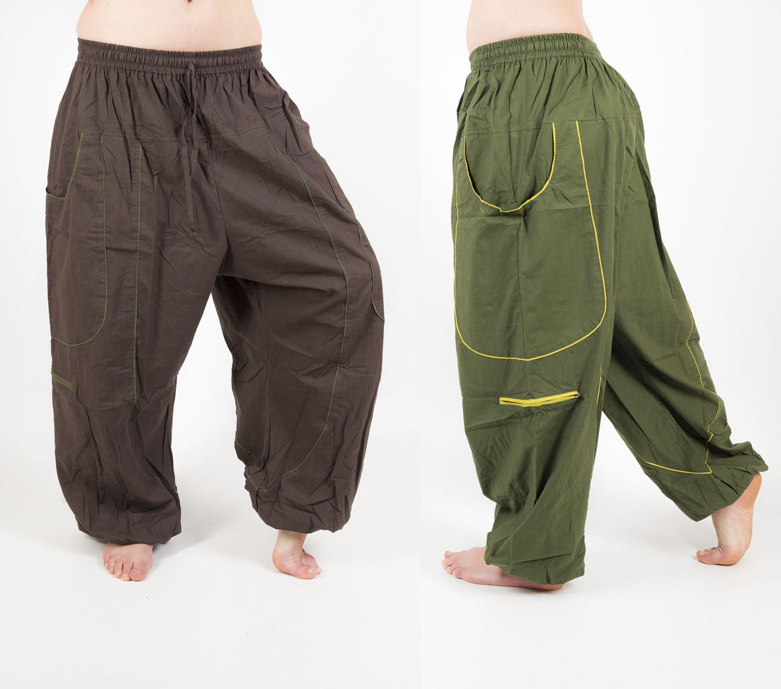 Harem Pants Festival Trousers Baggy Hippie Pants Mens Yoga Pants Ekeko Crafts