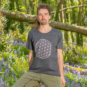 Shiva T-Shirt - Flower of Life Print - Ekeko Crafts