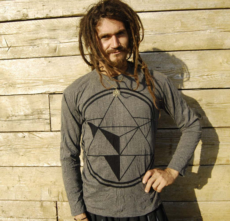 Merkaba Long Sleeve Shirt - Ekeko Crafts