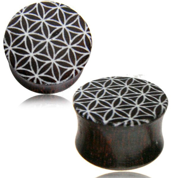 Flower of Life Wood Ear Tunnels - Ekeko Crafts