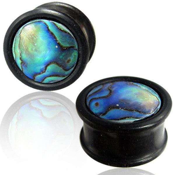 Abalone Wooden Ear Tunnels - Ekeko Crafts
