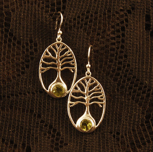 Tree of Life Silver Earrings - Ekeko Crafts