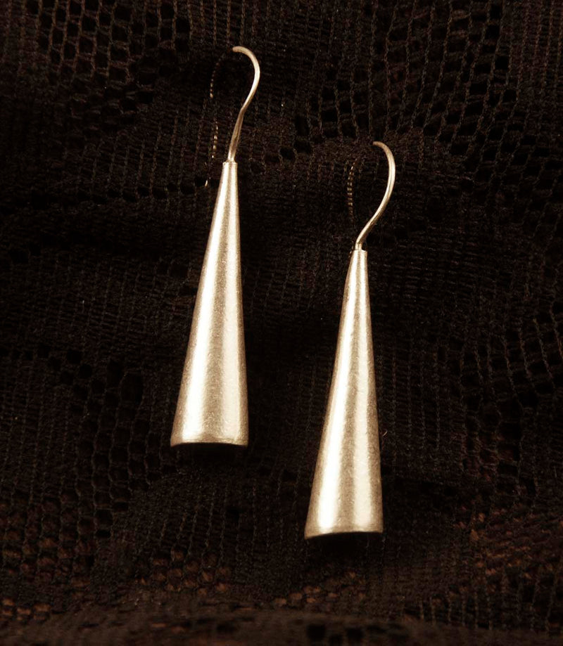 Conical Drop Earrings - Silver - Ekeko Crafts