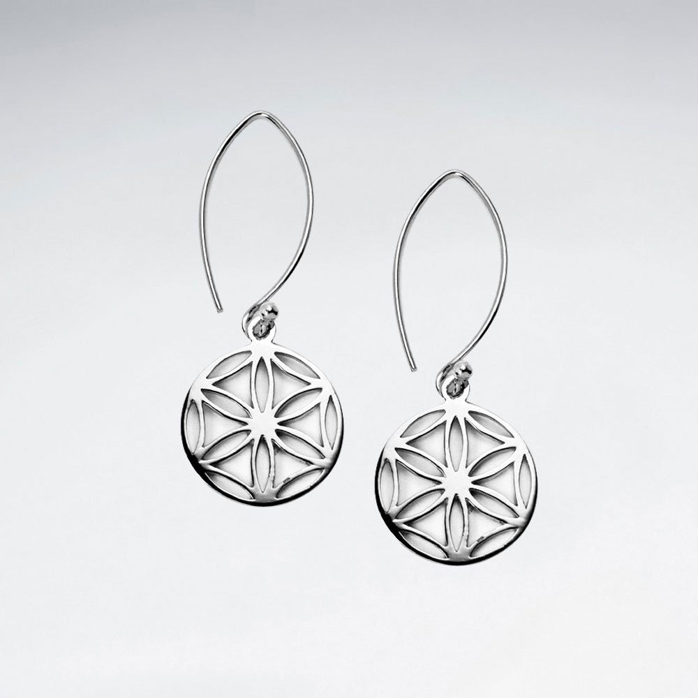 Seed of Life Silver Earrings - Ekeko Crafts