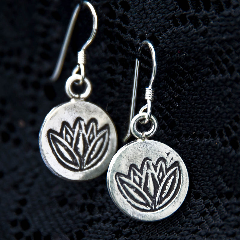 Lotus Dangle Earrings - Ekeko Crafts