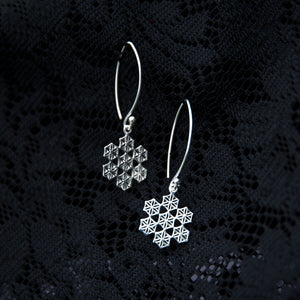 Flower of Life Snowflake Earrings - Ekeko Crafts