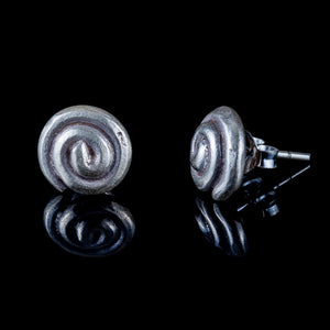 Small Spiral Ear Studs - Ekeko Crafts
