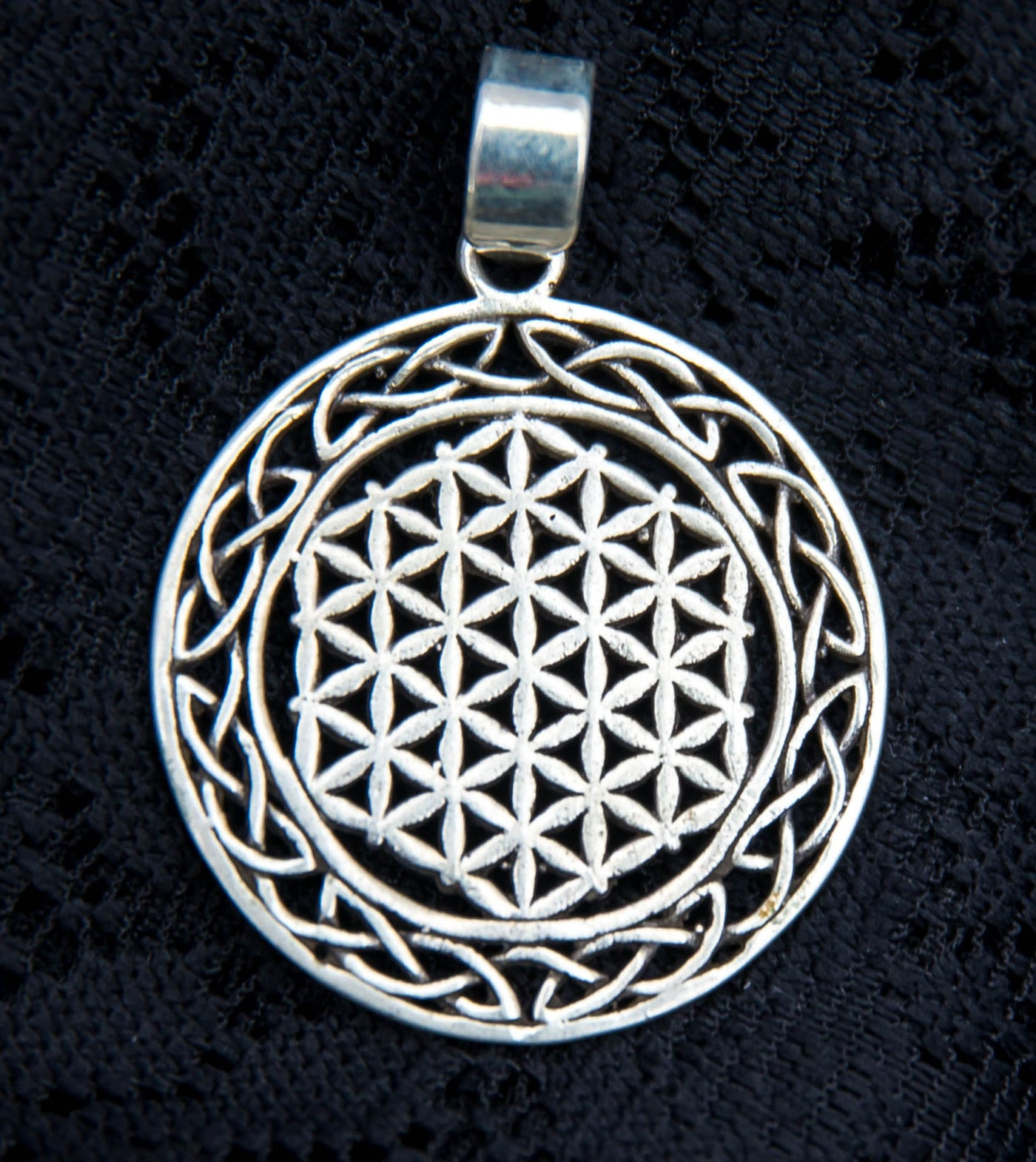 Celtic flower of life pendant spiritual gifts for him and her spiritual gift for him gift for her silver flower of life pendant celtic mozeypictures Gallery