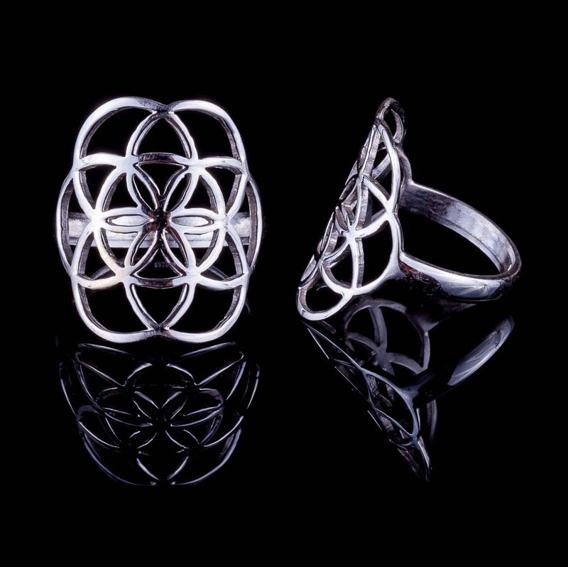 Seed of Life Ring - Silver - Medium - Ekeko Crafts
