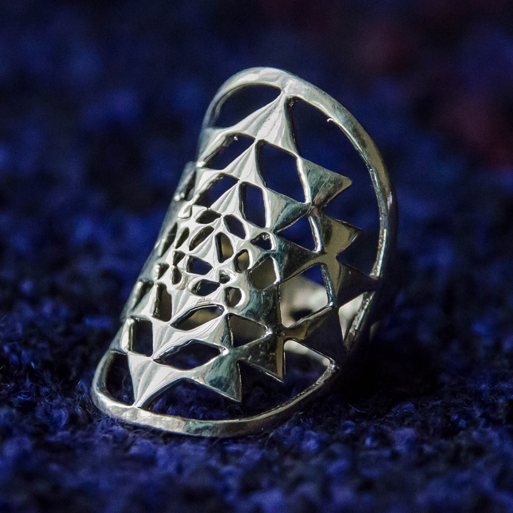 Sri Yantra Ring - Ekeko Crafts