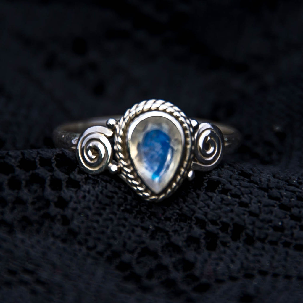 sterling silver, moonstone, statement jewellery