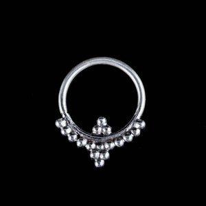 Shakti Silver Septum Ring - Ekeko Crafts