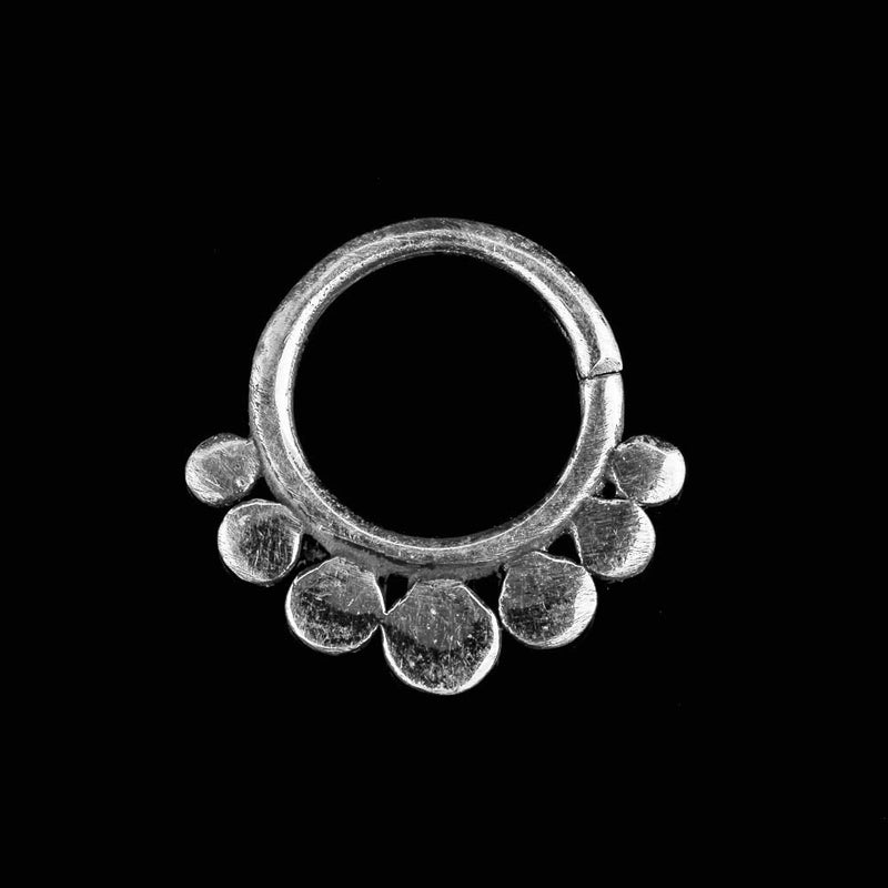 Chandra Silver Septum Ring - Ekeko Crafts