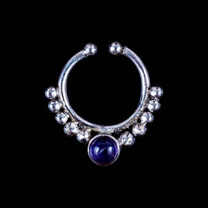 Amethyst Clip On Septum - Ekeko Crafts